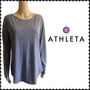 ATHLETA Gray Pullover Sweatshirt Long Sleeve Top